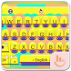New Happy Banana Keyboard Theme by Fashion Cute Emoji