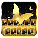 Gold Glitter Keyboard Theme by Keyboard Dreamer