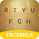 Gold Glitter Emoji Keyboard Theme for Twitter by Free Keyboard Themes PRO