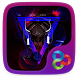 Purple Ghost Go Launcher Theme by Freedom Design