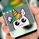 Cute unicorn Keyboard by Jubee Theme Studio