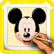 How To Draw Mickey Mouse Step By Step by CCGAMES : Games For Kids