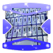Purple star cluster Keyboard by Gradient Themes