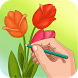 How to draw flowers by Wikiapps