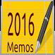 2016 Calendar Notes by ASPIRING USER APPS