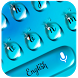Blue Waterdrops Keyboard Theme by Super Cool Keyboard Theme