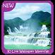 3D Wallpaper Waterfall Swan