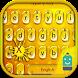 Golden Drop Emoji Keyboard by Best Keyboard Theme Design