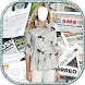 Women Newspaper Dress Selfie by lookbookapps