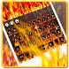 Flame Keyboard Theme by cool wallpaper
