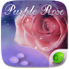 Purple Rose GO Keyboard Theme by GOMO Dev Team