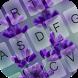 Lavender Keyboard Theme by Emoji Keyboard Colorful Design