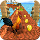 Angry Gallo Runner: Animal Temple Escape 3D