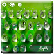 Green Waterdrops Keyboard Theme by cool wallpaper
