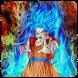 Goku Blue Wallpaper Art by Twinsapp