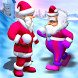 Santa Claus-Playing Snowballs