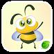 GO Keyboard Sticker Honey Bee by Best Design Keyboard
