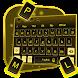 3D Golden Black Keyboard Theme