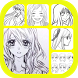 Anime Girl Drawing Tutorial by Amilova Apps