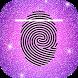 Glitter Fingerprint Lock Screen by Thalia Graphic Image Fusion
