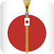 Japan Flag Zipper Lockscreen by Blahsi Lab