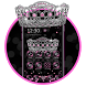 Sparkling Pink crown Theme by stylish android themes