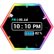 Neon Clock Widget by Us Droid