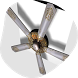Modern Ceiling Fans by KingUps