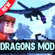 Dragons mod for Minecraft by Nuleomkum Jumtpeolat