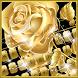Golden Rose Keyboard by Echo Keyboard Theme