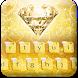Gold Diamond Keyboard Theme by cool wallpaper