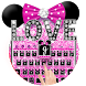 Pink Glitter Bowknot Keyboard by Super Cool Keyboard Theme