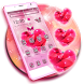 Sparkling Diamond Pink 2d Theme by Stylish Android Themes