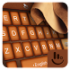 Silver Elegant Lether Keyboard Theme by Love Free Themes