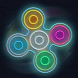 Fidget Spinner Glow Simulator by momogame