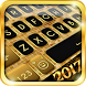 Gold Glitter Keyboard Theme by Keyboard Apps 2016