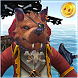 Dogs pirate captain caribbean by Poo And Play