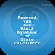Reduced Vander Waals Equation by HIOX Softwares Pvt Ltd