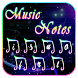 Music Notes Keyboard Theme by Super Keyboard Theme