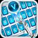ai robot blue keyboard orange future by Keyboard Theme Factory