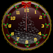 Christmas Glitter Clock Widget by Graphic Destiny