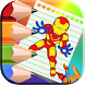 Heroes Coloring book for kids by Box Coloring Games