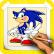 How To Draw Sonic Step By Step by CCGAMES : Games For Kids