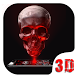 Red Blood Skull 3D Theme by Launcher 3D Pro