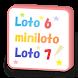 ロト6・ミニロト・ロト7・ビンゴ5、抽せんと購入結果の集計グラフ