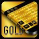 Gold Keyboard by Cool Theme Studio