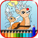 Coloring for Rudolph Red-Nosed by Super Coloring Studio