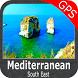Mediterranean South East GPS by FLYTOMAP INC