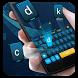 blue time travel keyboard future orange by Keyboard Theme Factory