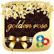 Golden Rose GO Launcher Theme by Freedom Design